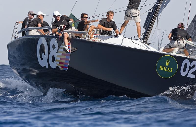 Nerone, owned by Antonio Sodo Migliori & Massimo Mezzaroma, glides around the top marks | photo Rolex / Kurt Arrigo