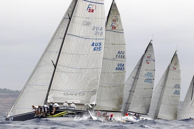 Farr 40 fleet on the start line 2011 Farr 40 Australian Championship | Andrea Francolini