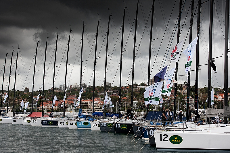 The 2011 Rolex Farr 40 Worlds fleet idle at Royal Sydney Yacht Squadron | Photo Rolex / Kurt Arrigo