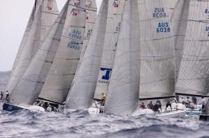 Farr 40 fleet on the start line 2011 Farr 40 Australian Championship | Andrea Francolini