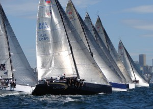Kokomo, Lambourdini, Estate Master compete in 2012 Farr 40 Nationals. Photo Erin McKnight